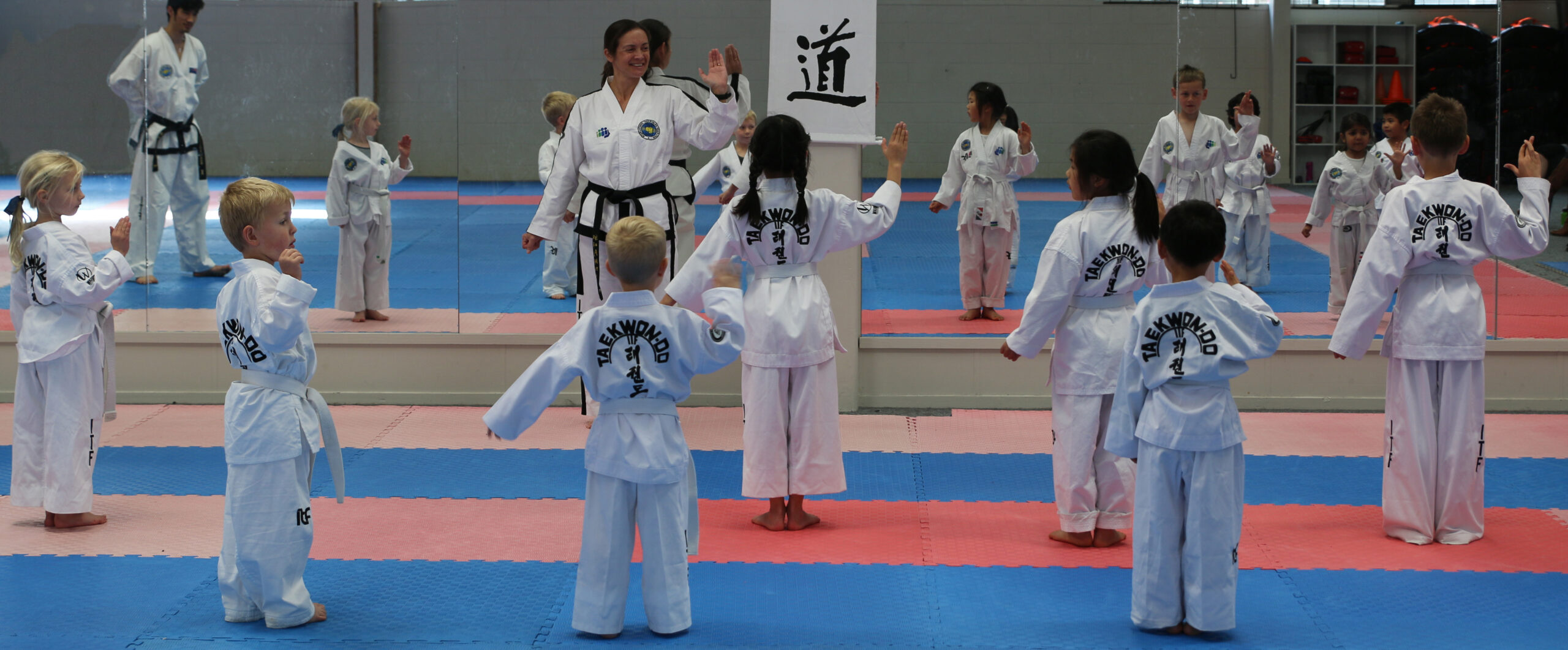 Kids reciting the Taekwon-Do Student Oath